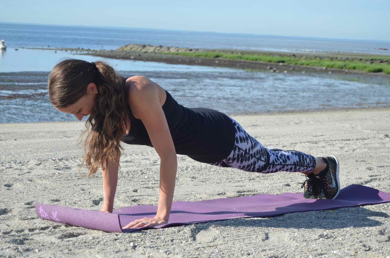 ashley's favorite workout is a burpee challenge